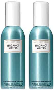Bath and Body Works 2 Pack Bergamot Waters Room Spray 1.5 oz.