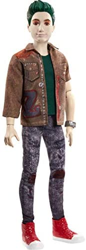 "Zombies Disney's 2, Zed Necrodopolis Doll (~12-inch) Wearing Grunge Outfit and Accessories, 11 Bendable ""Joint"