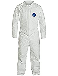 Tyvek 400 TY120S Disposable Protective Coverall, White, Large, pack of 25