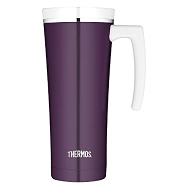 Thermos 16-Ounce Stainless Steel Travel Mug, Plum