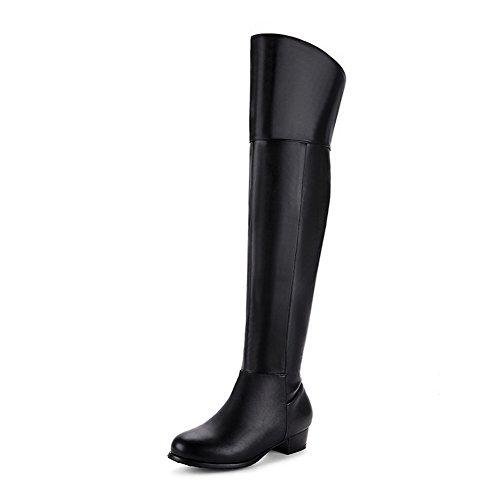 BalaMasa Womens Pull-On Boots B0772QJ97C Comfort Urethane Boots B0772QJ97C Boots Shoes 33c9a0