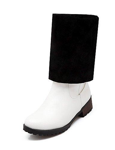 XZZ  Damen-Stiefel-Outddor     Büro   Lässig-Kunstleder-Niedriger Absatz-Wedges   Modische Stiefel-Schwarz   Rot   Weiß B01KPZSTPC Sport- & Outdoorschuhe Beliebte Empfehlung ae3af9