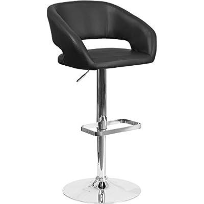 SuperDiscountMall Premium Quality Black Adjustable Barstool CH-122070-BK-GG