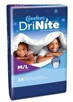 Comfees? Drinite Disposable Absorbent Pull On Youth Pants White Medium / Large 65-85 lbs CS/56 by Attends Healthcare Products