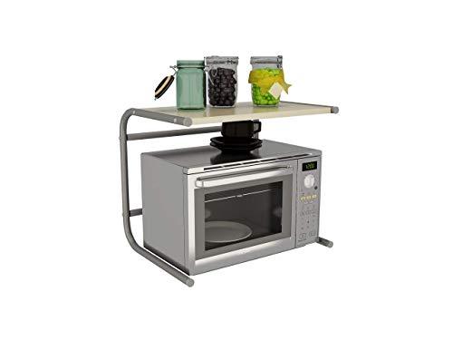 SILVANO Mueble Repisa sobre Microondas 49,5 x 36,5 x 40,5cm Estante de Cocina Estante