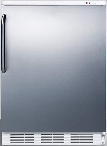 Summit VT65MBISSTB Upright Freezer, Stainless Steel