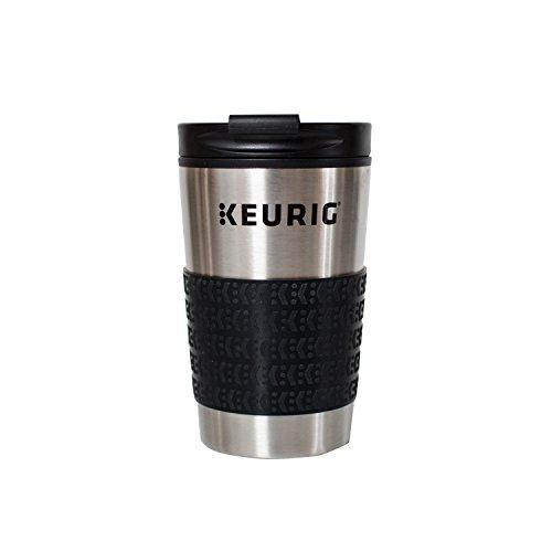 Keurig Stainless Steel Insulated Coffee Travel Mug, Fits Under Any Keurig K-Cup Pod Coffee Maker, 12 oz, Stainless Steel