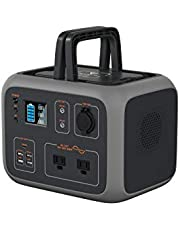 MAXOAK Power Station 500Wh 300W Bluetti AC50 Solar Generator MPPT Sine-Wave Wireless Charging Emergency LED Lighting w/ 2AC Outlet 120V,PD 45W USB-C,DC12V Lithium Battery Backup for Outdoor RV Van Travel Camping