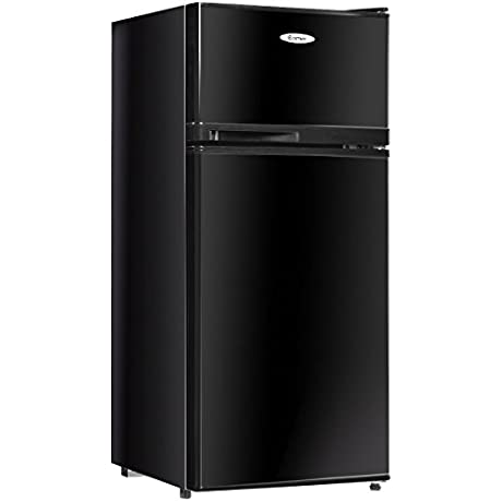 Costway 3 4 Cu Ft 2 Door Compact Mini Refrigerator Freezer Cooler Black