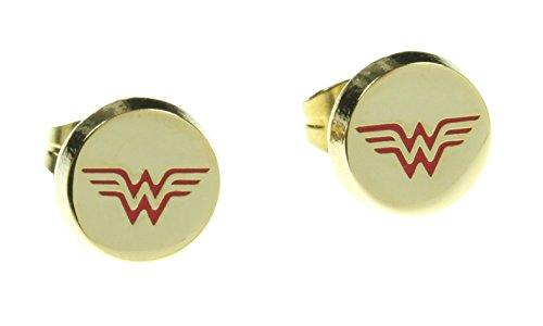 DC+Comics Products : DC Comics Wonder Woman Logo Stud Earrings