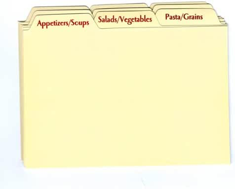 Recipe Card Box Tab Divider Set