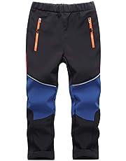 CAMLAKEE Pantalones Senderismo Niño Pantalones Trekking Niña Impermeables Pantalón Softshell Transpirable Pantalon de Escalada