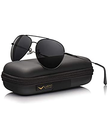 d604b7cf104 Men Sunglasses Polarized womens - UV 400 Protection with case 59mm by LUENX