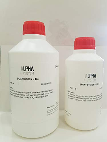 Alpha System 103 Crystal Clear Epoxy Resin Kit 1.5 kg Price & Reviews