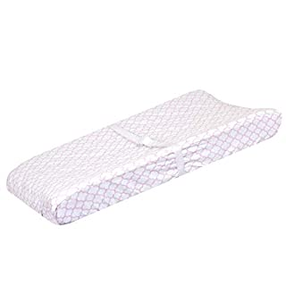 Just Born Boys and Girls Newborn Infant Baby Toddler Nursery Changing Pad Cover, Pink/White, One Size