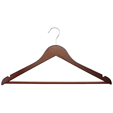 AmazonBasics Wood Suit Hangers - 30-Pack, Cherry