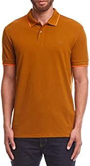 Camisa polo básica lisa com um friso, Colcci, Masculino