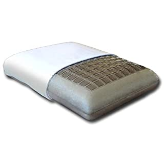 Cooling Gel Bamboo Charcoal Memory Foam Pillow, Gel Topped with Washable Cover