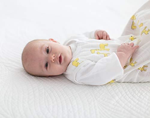 SwaddleDesigns Cotton Muslin Sleeping Sack with 2-Way Zipper, Pastel Pink Butterflies, Medium (6-12 Months)