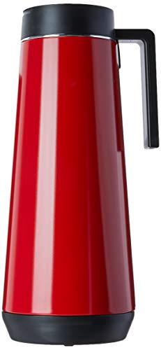 Termo con asa | Jarra termica | Dispensador de bebidas | Acero inoxidable | Jarra de cafe | 1,0 litros | Rojo