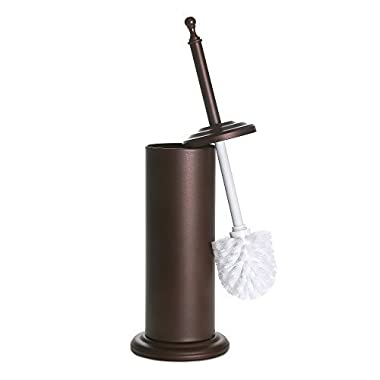 Home Intuition Bronze Toilet Brush With Holder and Drip Cup