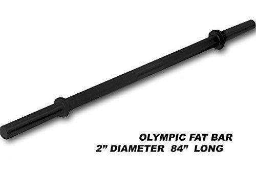 213,4 cm schwarz Olympischen Hohl Fat Bar w Halsbänder von Ader Sporting Goods