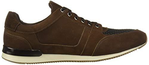 Marc Joseph New York Men's Genuine Leather Made in Brazil Luxury Fashion Trainer Sneaker, Cafe Nubuck, 10 M US