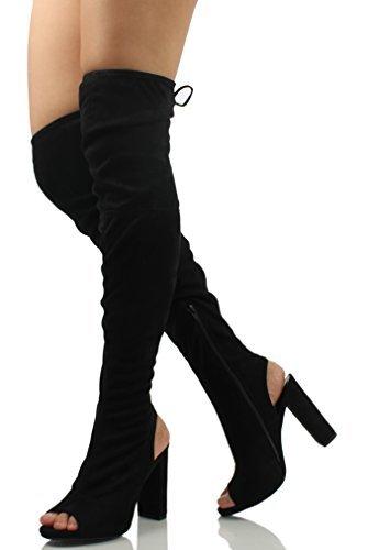 Wild sexy chunky heel boots