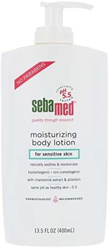 Sebamed Moisturizing Lotion with Pump pH 5.5 for Sensitive Skin Dermatologist Recommended Moisturizer 13.5 Fluid Ounces (400 Milliliters)