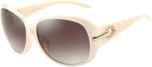 ATTCL Women Polarized UV400 Sunglasses Fashion Plaid Oversized Sunglasses