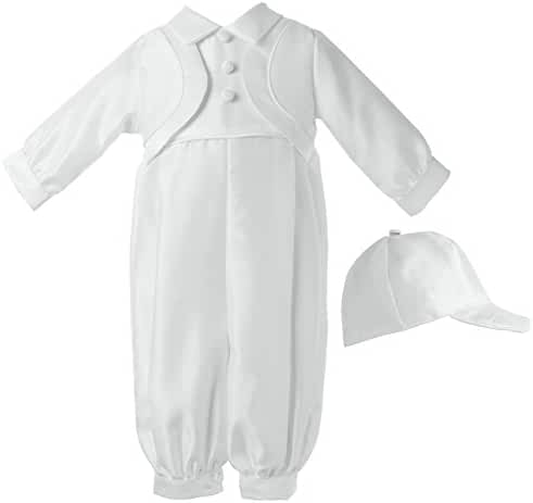 Lauren Madison Baby-Boys Newborn Shantung Long Pant Outfit Set
