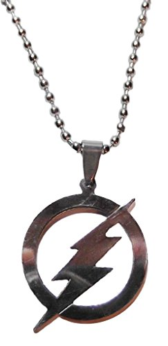 "DC+Comics Products : DC Comics The Flash Series Symbol Stainless Steel Pendant Necklace with 20"" Chain"