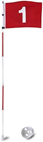 KINGTOP Golf Flagsticks Pro, Putting Green Flags Hole Cup Set, All 6 Feet, Golf Pin Flag for Driving Range Bac