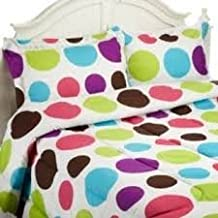 Divatex Home Fashions Jumbo Dots Mini Comforter Set, Multi Bright, Twin