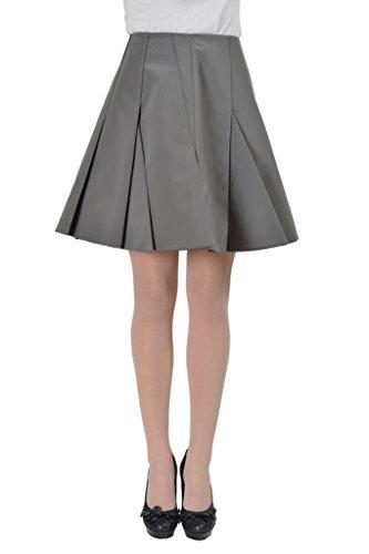 Viktor & Rolf Women's Gray Pleater Skated Skirt US 8 IT 44;