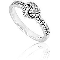 Pandora Women's Sparkling Love Knot Clear CZ Ring Size 5-190997CZ-50