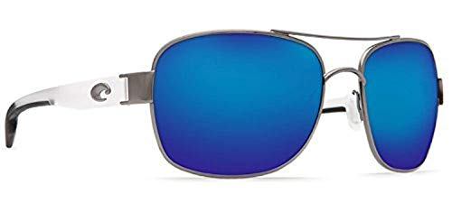 Costa Cocos Gunmetal w/crystal temples/Blue Mirror Glass W580 & Carekit