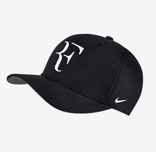 NIKE Mens Roger Federer RF Classic 99 Aerobill Tennis Hat Black/Flint Grey/White
