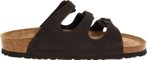 Birkenstock Women's Florida Soft Footbed Birko-Flor  Black Nubuck Sandals - 37 M EU / 6-6.5 B(M) US by Birkenstock (Image #6)