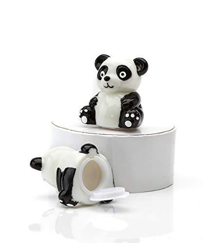 Tropical Retreat Panda Bear Shaped Black and White 2 x 2 Mint Lip Gloss