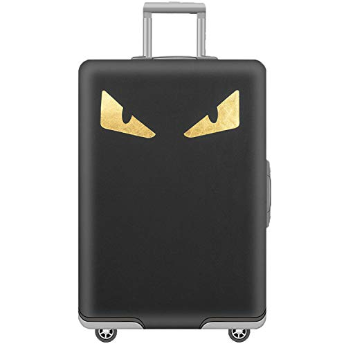 Washable Spandex Luggage Cover Protector Tourister Trolley Bag Cover Fits 31/32 Suitcase Sleeve With Luggage Strap Belt Black Monster Size XL