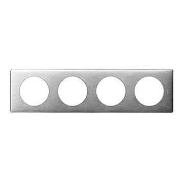 099865 Plaque 1 poste encadrement prise /électrique murale Aluminium Legrand LEG99865 C/éliane
