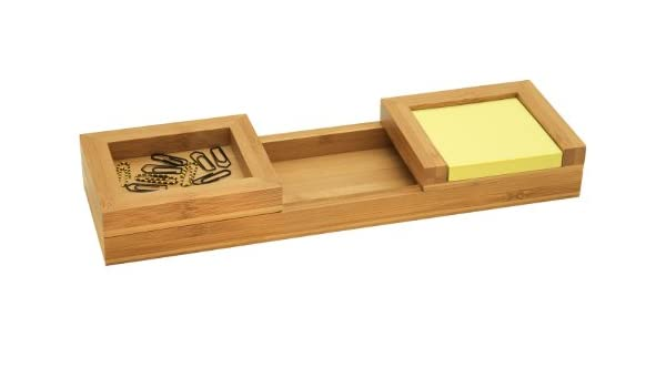 Amazon.com : Wedo 0611607 Pen Tray Set 3 Parts in Bamboo Brown : Office Products