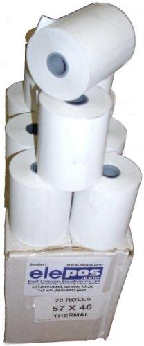 57 x 45 Thermal 57mm x 45mm 57x45 Thermal Rolls 20 Rolls
