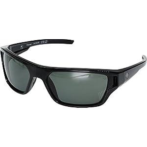 Spy Optic Unisex Boon Black/Happy Gray/Green Polarized Sunglasses