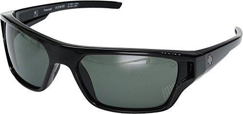 Spy Optic Unisex Boon Black/Happy Gray/Green Polarized - Custom Sunglasses Spy