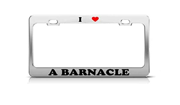 Amazon.com: Yantani I Heart A Barnacle Animals Metal Auto ...