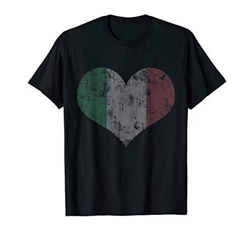 Italian Flag T-Shirt Heart Italy Italia Shirt