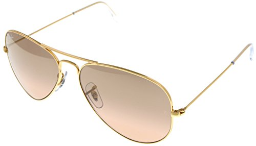 Ray Ban Sunglasses Aviator Gold Womens RB3025 - Ray Aviators Ban Rose Gold