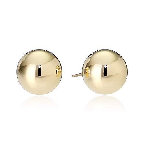 (14k Yellow Gold 8mm Ball Stud Earrings)